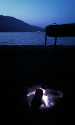 木崎湖の夕暮れ